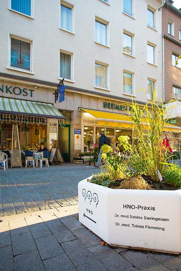HNO-Praxis Dortmund, Eingang Wißstraße
